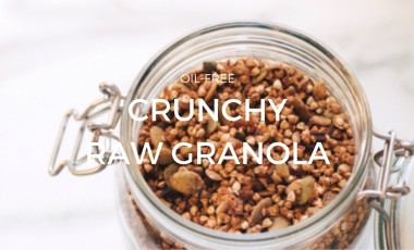Crunchy Raw Buckwheat Granola (Oil-Free)