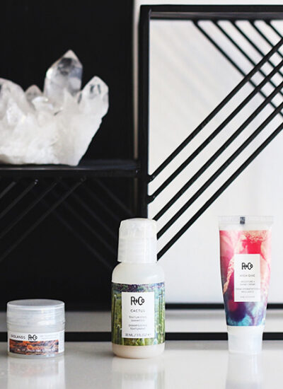 R+Co Badlands dry shampoo, Cactus Shampoo and High Dive shine cream