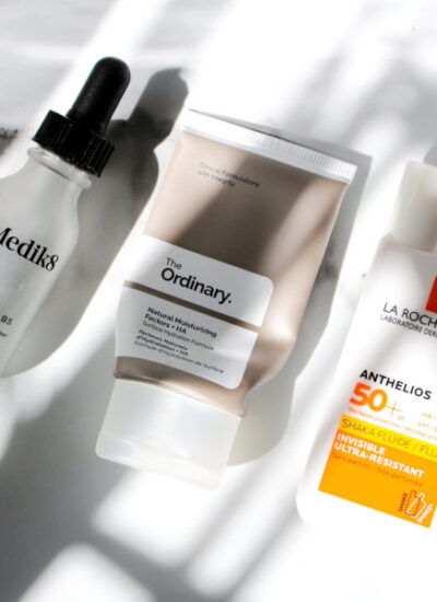 skincare routine Medik8 Hydr8 B5, The Ordinary Natural Moistruizing Factors, La Roche Posay Shaka Fluid