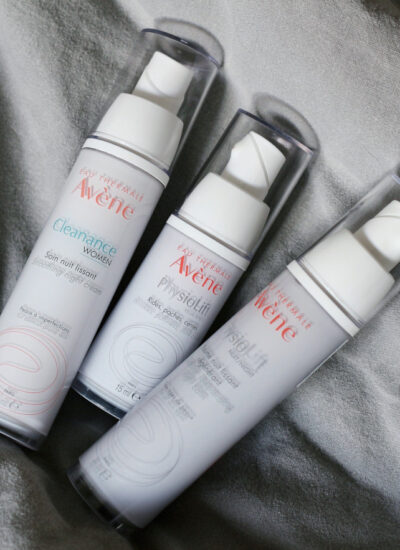 avene cleanance smoothing cream, physiolift night balm eyes retinal retrinal