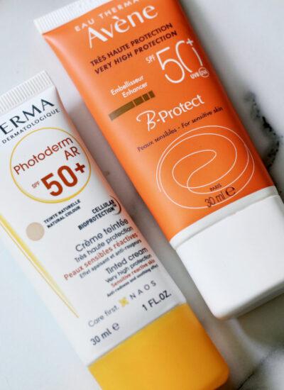 Avene B Protect spf 50 vs Bioderma Photoderm AR SPF 50 review